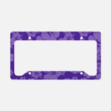 Purple Hawaiian Hibiscus - License Plate Holder