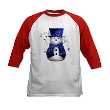 Cute Snowman in Blue Velvet Tee