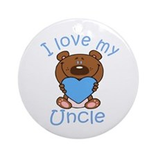 I love my Uncle Ornament (Round)
