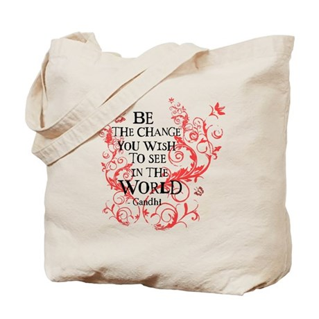 Be the Change - Red Vine Tote Bag