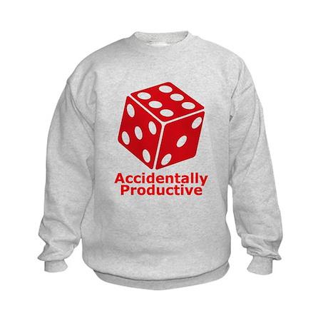 Accidentally Productive Logo Name Kids Sweatshirt