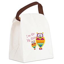 Big Sister ~Owls Canvas Lunch Bag