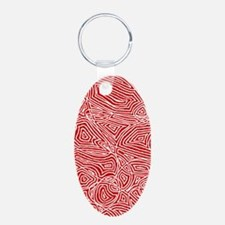 Red Scribbleprint Keychains