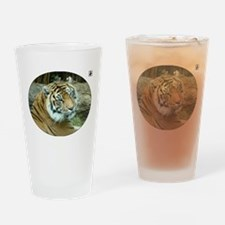 Tiger Head Drinking Glass