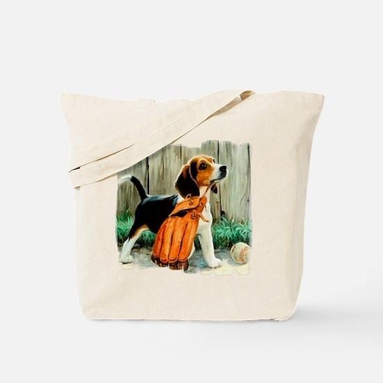 Beagle & Baseball 2 Tote Bag