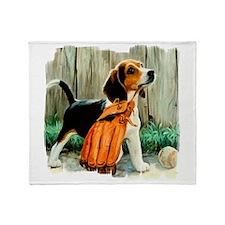 Beagle & Baseball 2 Throw Blanket