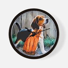 Beagle & Baseball 2 Wall Clock