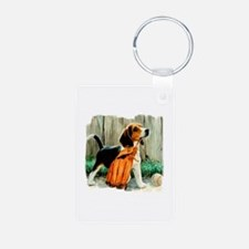 Beagle & Baseball 2 Aluminum Photo Keychain