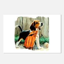 Beagle & Baseball 2 Postcards (Package of 8)