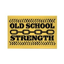 Old School Strength Rectangle Magnet