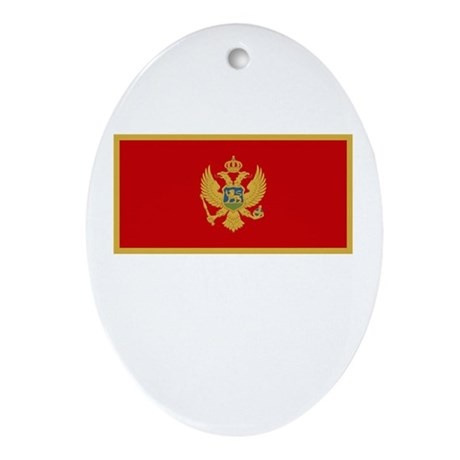 Montenegro Flag Picture Oval Ornament