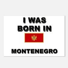 I Was Born In Montenegro Postcards (Package of 8)