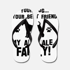 Airedale terrier dog breed designs Flip Flops