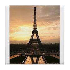 Cute Paris souvenirs Tile Coaster