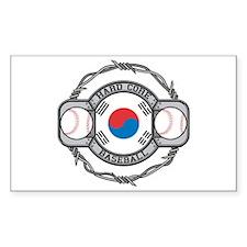 Korean Baseball Rectangle Decal