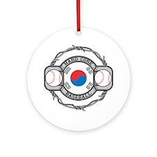 Korean Baseball Ornament (Round)