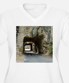 Iron Mountain Roa Women's V-Neck Plus Size T-Shirt