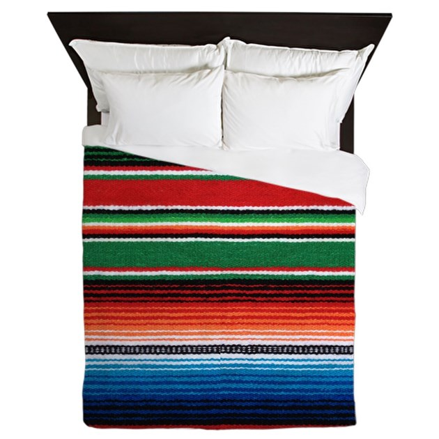 Mexican Serape Queen Duvet By Thehomeshop