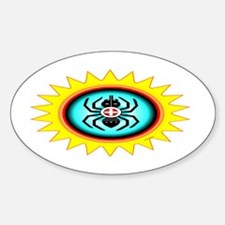 SOUTHEAST INDIAN WATER SPIDER Sticker (Oval)