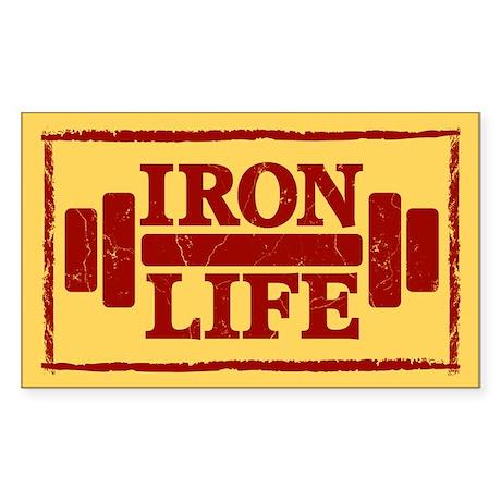 Iron Life Sticker (Rectangle)