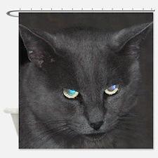 Unique Cat w/ Cool Eyes Shower Curtain