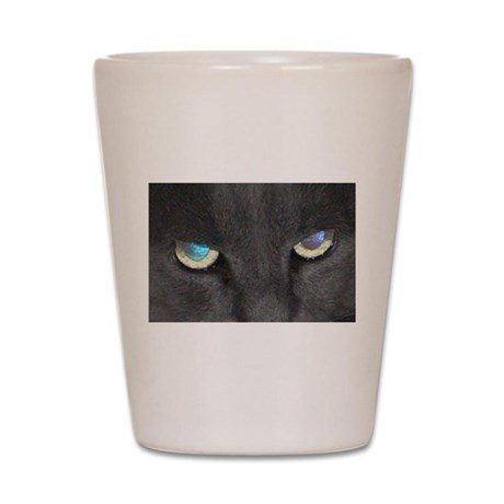Unique Cat w/ Cool Eyes Shot Glass