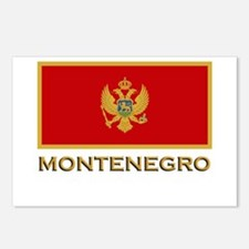 Montenegro Flag Gear Postcards (Package of 8)