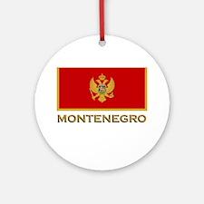Montenegro Flag Gear Ornament (Round)