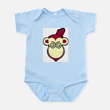 Giant Evil Hypnotist Monkey Logo Infant Bodysuit