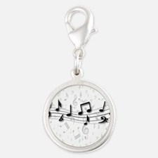 Designer Musical Notes in black and grey Silver Ro