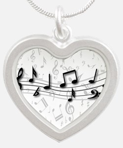 Designer Musical Notes in black and grey Silver He