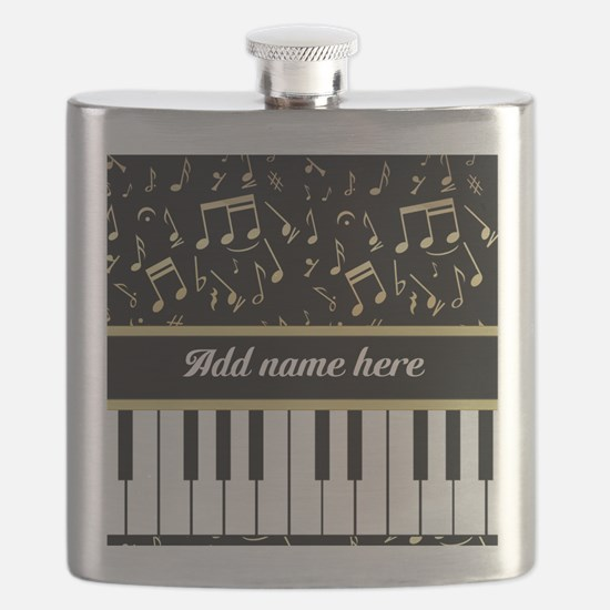 Personalized Piano and musical notes Flask