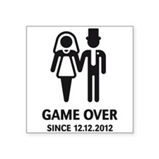 Game Over Since 12.12.2012 (Wedding / Marriage) Sq