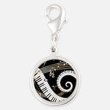 musicgiftsquare.jpg Silver Round Charm