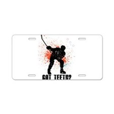 Got teeth? Aluminum License Plate