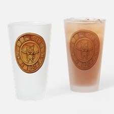 Mayan Cat Calander Drinking Glass