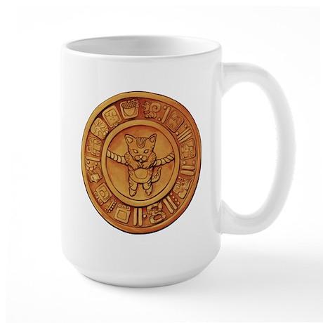 Mayan Cat Calander Large Mug