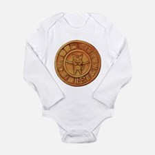 Mayan Cat Calander Long Sleeve Infant Bodysuit