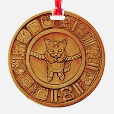 Mayan Cat Calander Ornament