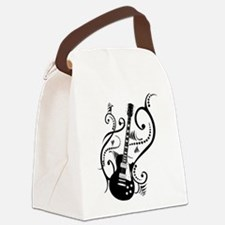 guitarwaves2.png Canvas Lunch Bag