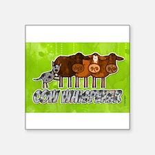 cow whisperer blue heeler Rectangle Sticker