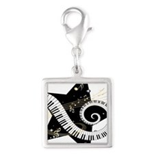 musicalstar.png Silver Square Charm