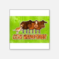 cow whisperer red heeler Rectangle Sticker