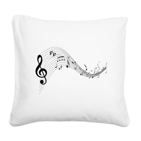 musicnotes4.png Square Canvas Pillow