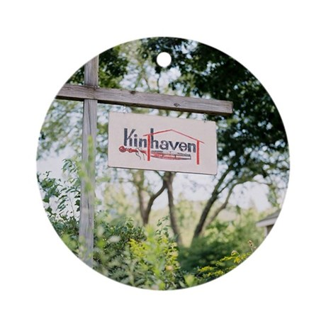NEW! Kinhaven Sign Ornament with Red Ribbon