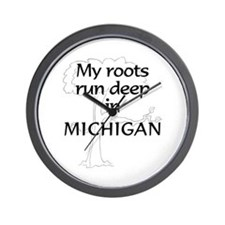 Michigan Roots Wall Clock