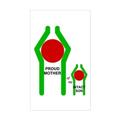 Proud Mother Rectangle Decal