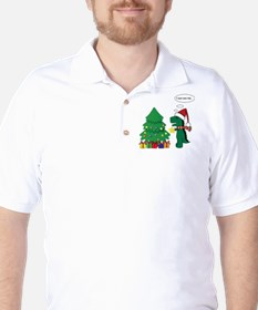 T-rex hates Christmas Golf Shirt