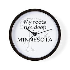 Minnesota Roots Wall Clock
