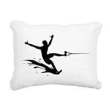 Water Skiing Rectangular Canvas Pillow